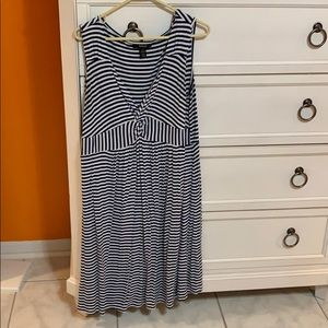 Style and Co blue striped dress 1X